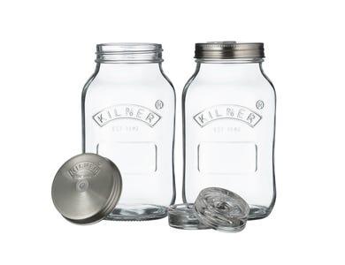 Kilner® Set of 2 Fermentation Jars 1 Litre