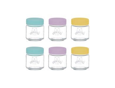 Set Of 6 Kids Jars 110ml