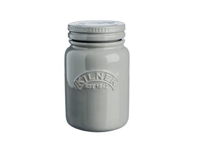 Image for Ceramic Push Top Morn Mist Jar 0.6 Litre