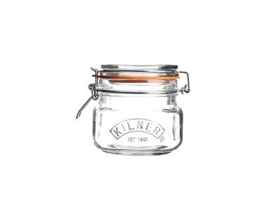 Kilner® 0.5 Litre Square Clip Top Jar