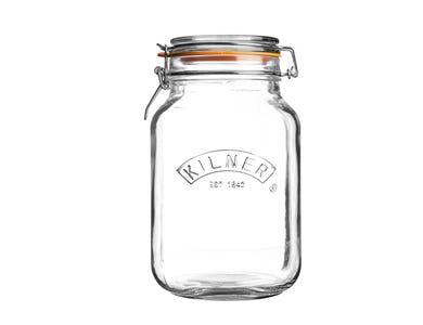 Kilner® 2 Litre Square Clip Top Jar