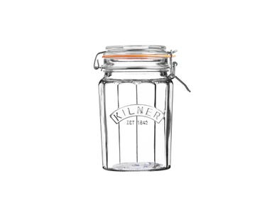 Kilner® Facetted 0.95 Litre Clip Top Jar