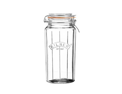 Kilner® Facetted 1.8 Litre Clip Top Jar