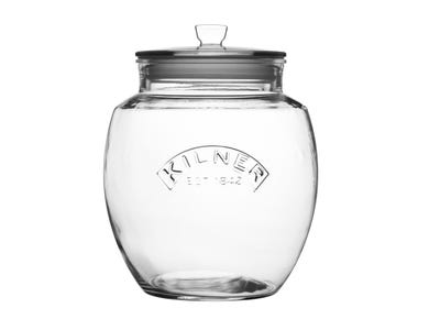 Kilner® 4 Litre Glass Push Top Jar.
