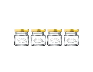 Kilner® Set of 4 Mini 55ml Jars with twist top lids