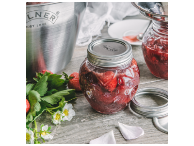 Strawberry and Rose Water Jam Recipe