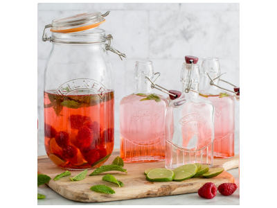 Raspberry, Lime & Mint Infused Water