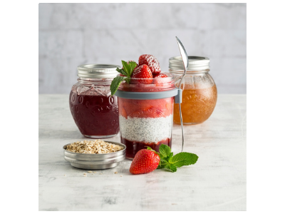 Strawberry Chia Seed Overnight Oats